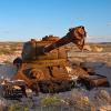 Танк Т-34 под открытым небом и без охраны