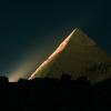 Пирамида Хефрена фото ночью