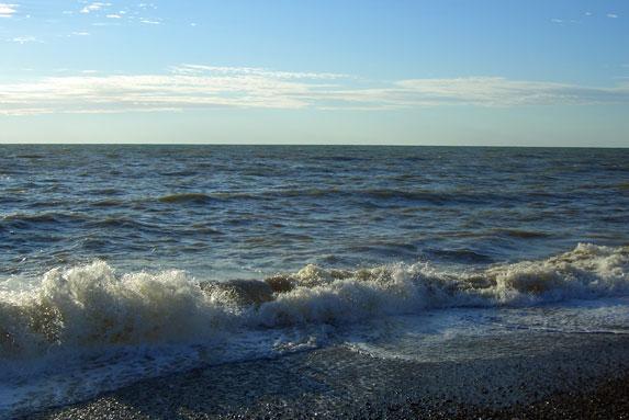 Галечный пляж, Крым