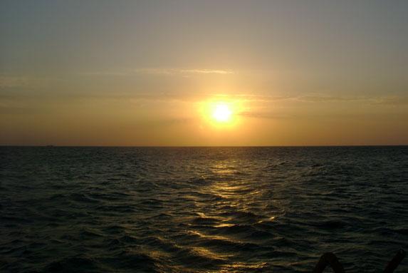Пляж в Испании, закат