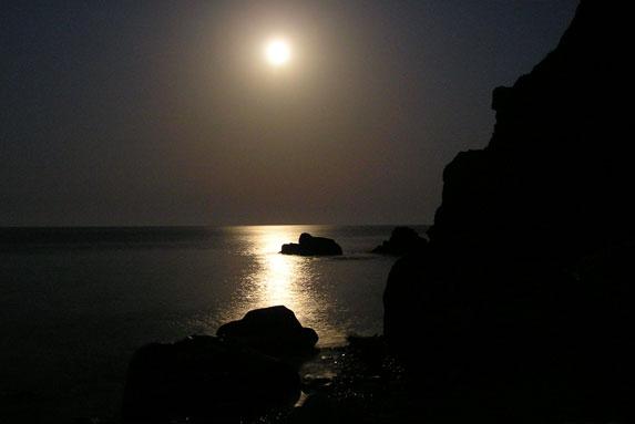 Ночной пляж, Крым