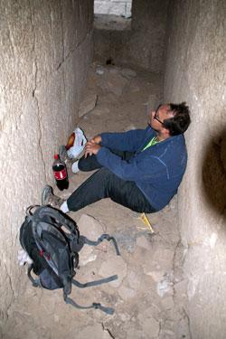 Пирамида Хеопса, ночевка в некрополе
