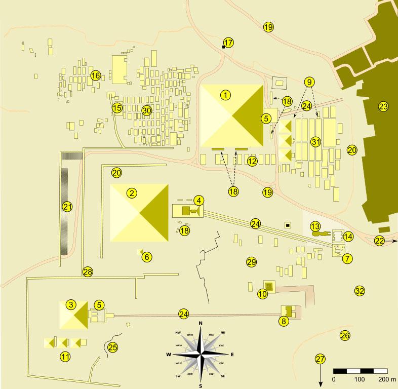 Пирамида Хеопса на карте