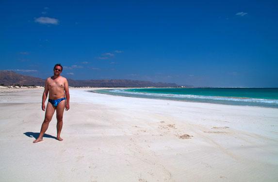 Романтическое путешествие, Сокотра, белоснежный дикий пляж