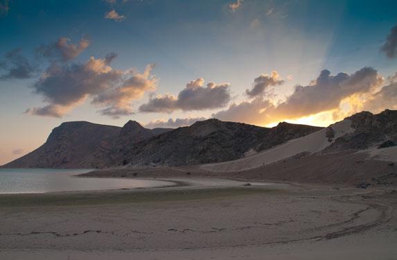 Романтическое путешествие, Сокотра, утро в Голубой лагуне