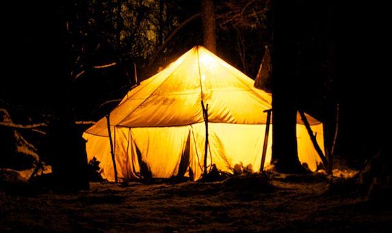 Южный Урал, зимняя палатка