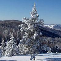 Хребет Зигальга – первое препятствие в лыжном походе 3 к.с., 2002