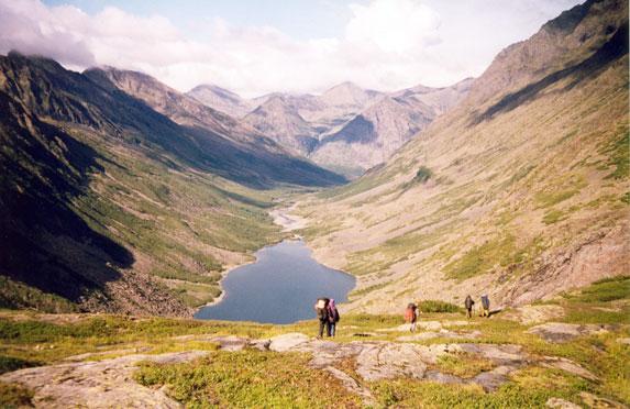Спортивный туризм, пешеходный поход, Байкальский хребет, озеро Гитара
