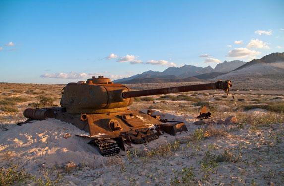 Танк Т-34, остров Сокотра