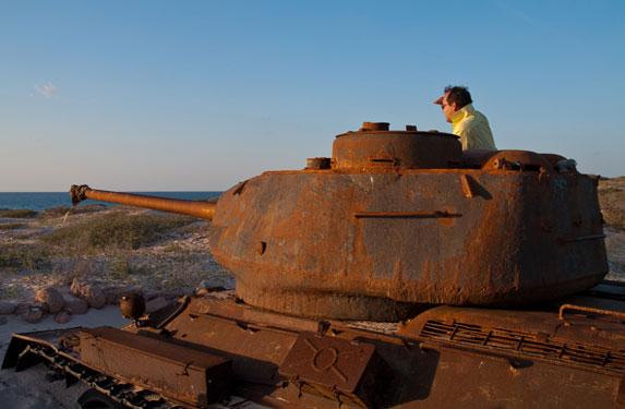 Танк Т-34, остров Сокотра, командир танка