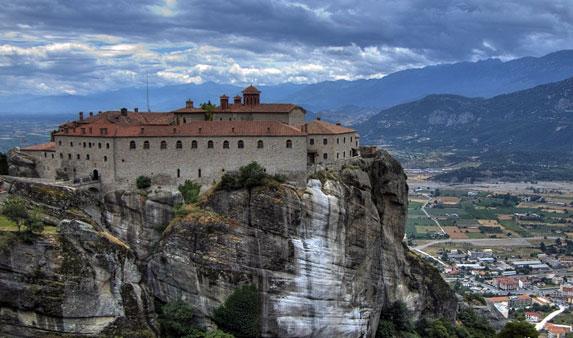 Православная Греция, монастырь горной монашеской республики Святые Метеоры