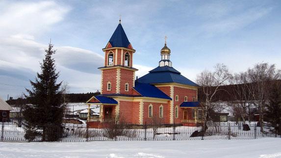 Церковь в поселке Тюлюк