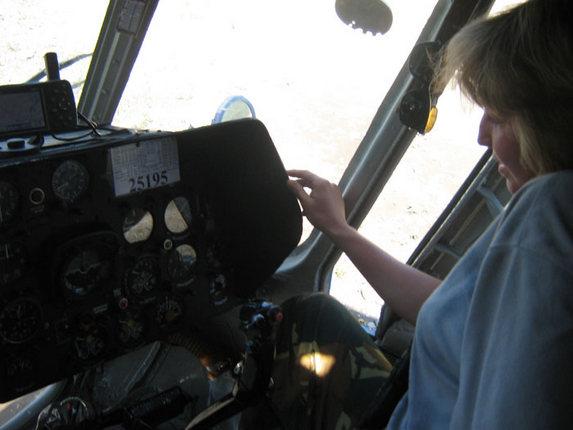 Авиационный туризм, за штурвалом вертолета Ми-6