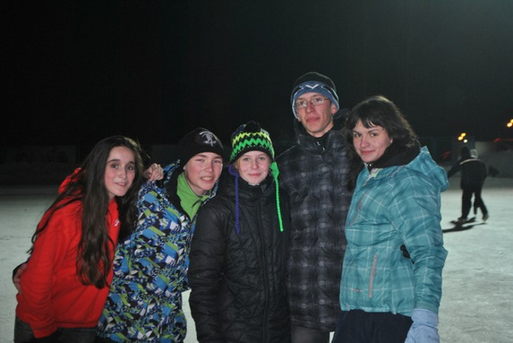 На катке, зимние каникулы