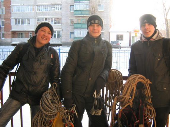 Как я провел зимние каникулы, тренировки на улице