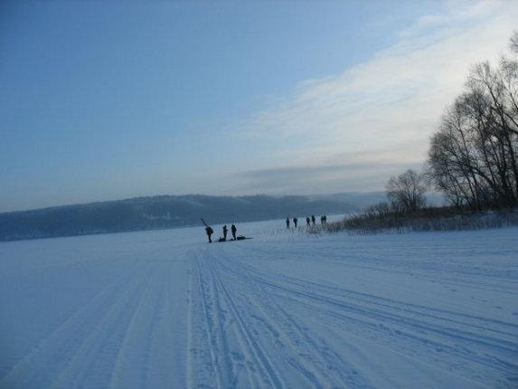 Зима – сочинение на туристскую тематику, на Каме