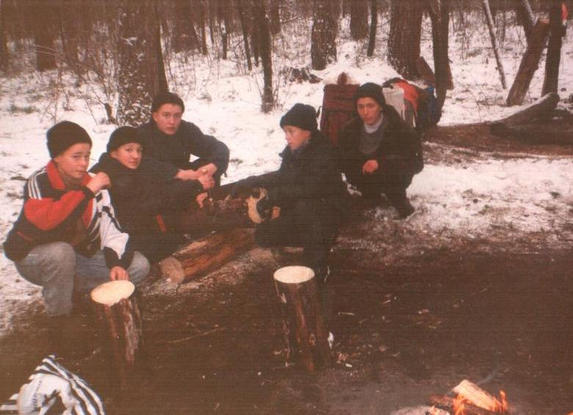 Зима – сочинение на туристскую тематику, на бивуаке