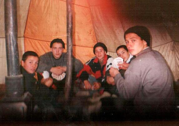 Зима – сочинение на туристскую тематику, в зимней палатке