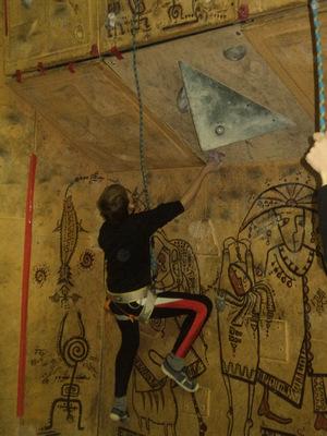Как я провел зимние каникулы, соревнования по скалолазанию на скалодроме в Униксе