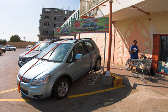 Оман, велопутешествие, город Барка, грузимся в супермаркете