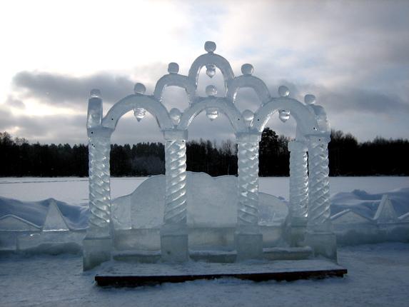 Раифа, Казань, ледяная арка