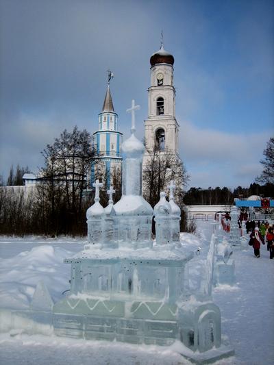 Раифа, Казань, ледяной собор