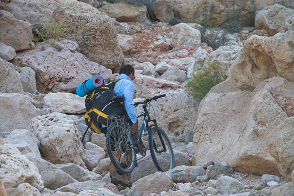 Оман, попытка подъема по каньону
