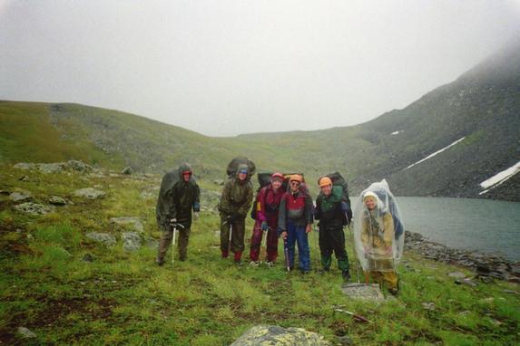 Ц. Алтай, Спуск с перевала Ак-Карасу 1А