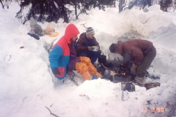 Хибины, Утро в лыжном походе.