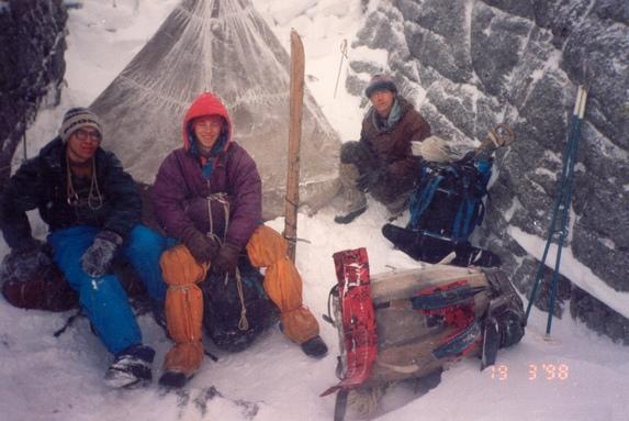 Хибины, Вынужденная ночевка на отроге горы Часночорр (1А).