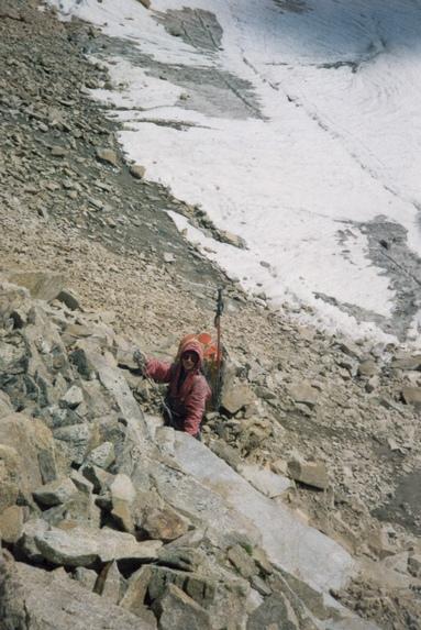 Центральный Кавказ, Подъем по перилам на перевал Штернберга (2А, 3900 м).