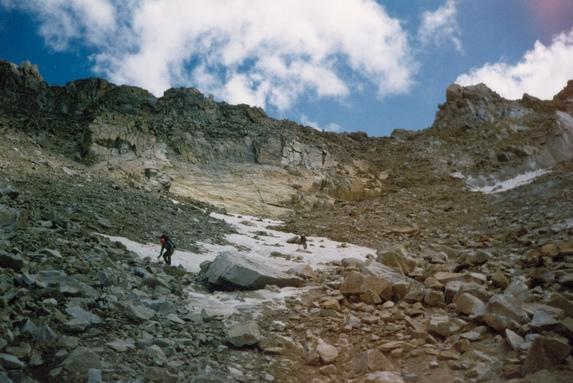 Центральный Кавказ, Спуск с перевала Штернберга (2А, 3900м).