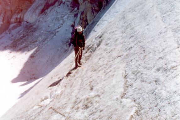 Северный Кавказ, Подъем по перилам на перевал 30 лет Советского Альпинизма (2А, 3700 м).