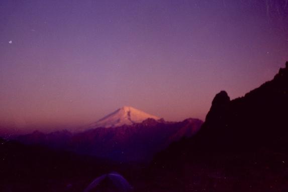 Северный Кавказ, Эльбрус на закате.