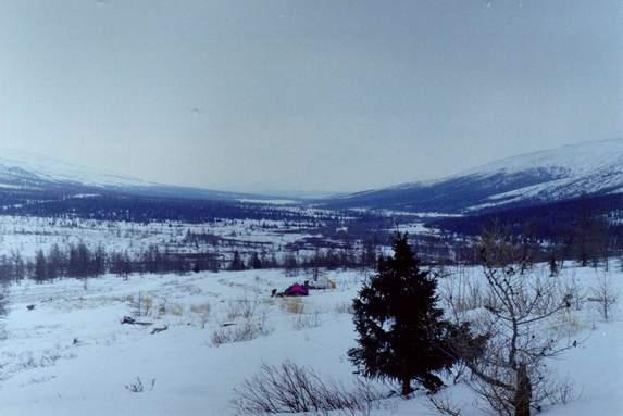 Приполярный Урал, Место первой ночевки - место старта, устье реки Алькесвож.
