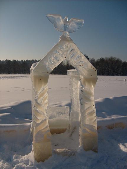 Раифский монастырь, Ледяные фигуры