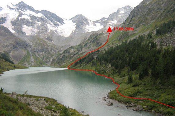 Алтай - 2006, Вид на озеро Поперечное