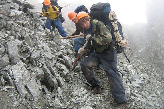 Алтай - 2006, Спуск с перевала 1А Центральный Джалама